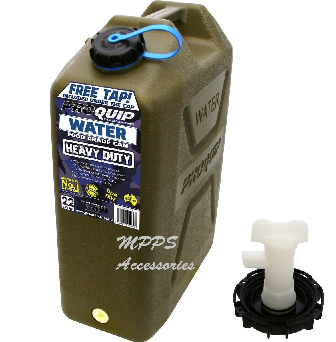 Water Carry Can - 22 LItre, Green