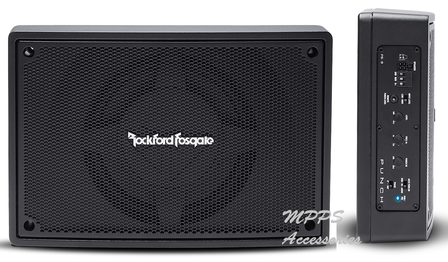 Punch Single 8 inch Amplified Loaded Enclosure - ROCKFORDFOSGATE