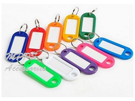 Plastic Keychain ID Labels Tags Name